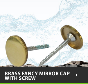 Brass Fancy Mirror Cap