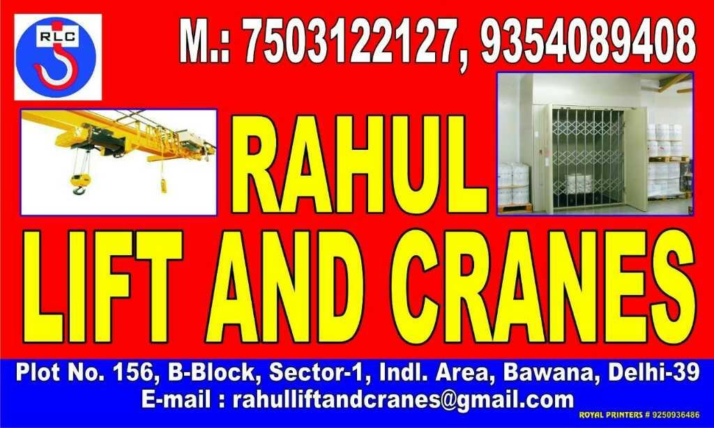 RAHUL LIFT AND CRANES