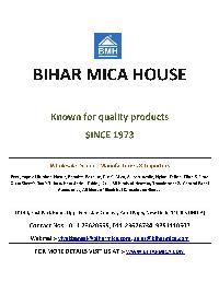 BIHAR MICA HOUSE
