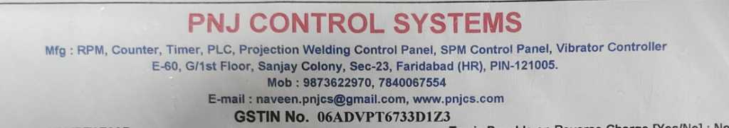 PNJ CONTROL SYSTEMS