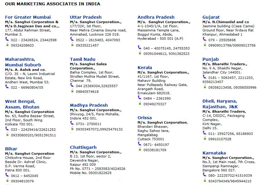 Network & Distributors - Kraycol Stationery Pvt  Ltd