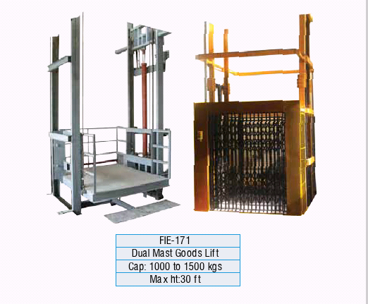 Dual Mast Goods Lifts