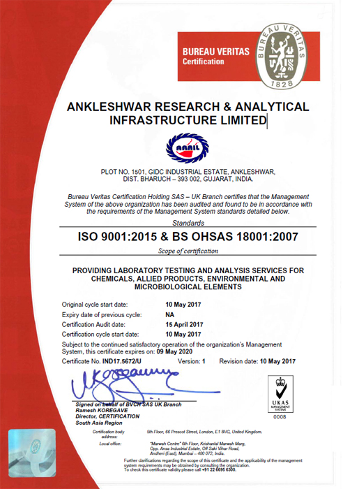 Ankleshwar Research & Analytical Infrastructure Ltd  - Lab Chemicals