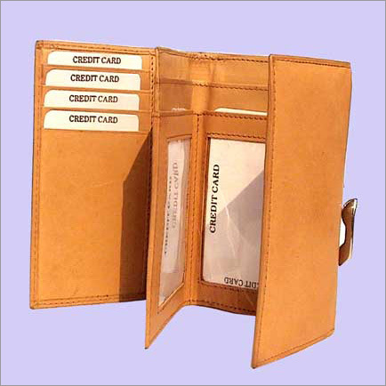 Leather Wallet - Cow Mathani (Tan)