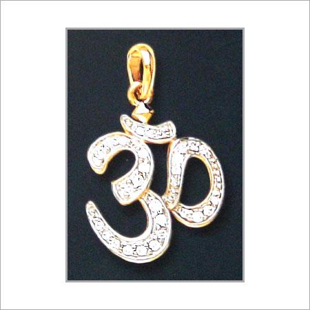 Om diamond pendant utssav cz gold jewels ltd door no 1718 om diamond pendant mozeypictures Image collections