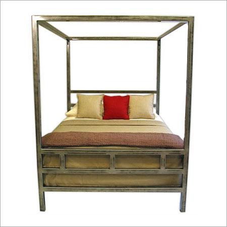 Stainless steel canopy bed frame in jodhpur rajasthan - Stainless steel bedroom furniture ...