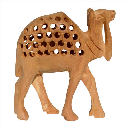 Hand Carved Wood Camel In Ballabgarh Haryana Jindal Crafts