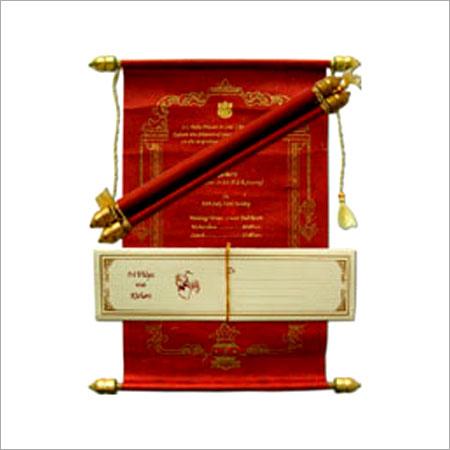 Indian Wedding Scroll Invitation Cards - UNIVERSAL PRINTERS, Plot No-1, MEHTA BHAWAN, M.I. ROAD,, Jaipur, India