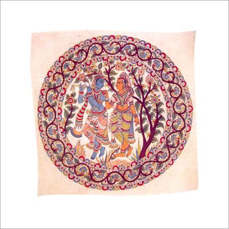 Kalamkari Hand Painted Radha Krishna Wall Hanging Lepakshi