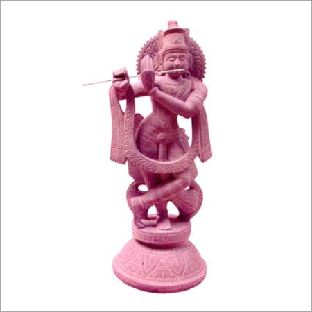 Stone Carving Of Krishnan With Flute Lepakshi Handicrafts Emporium