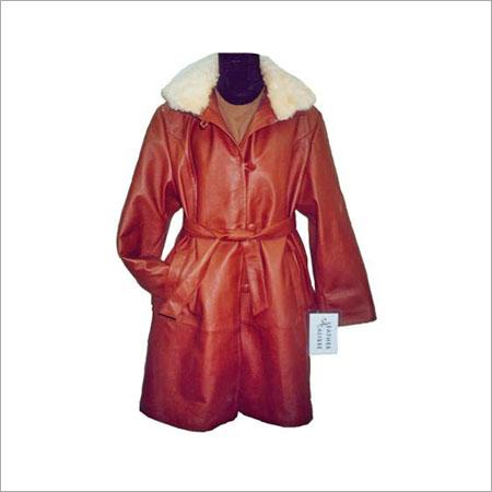 Leather Ladies Overcoat