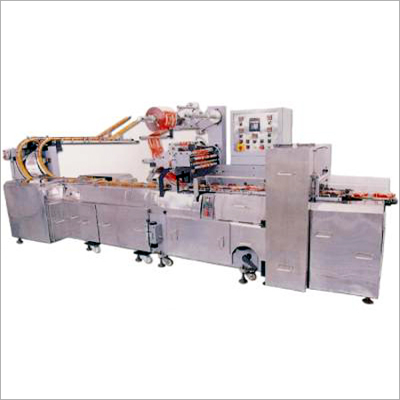 Automatic On Edge Biscuit Wrapping Machine