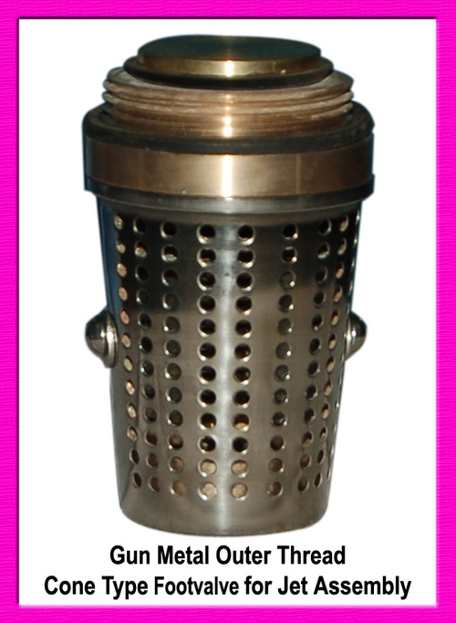 GUN METAL OUTER THREAD CONE TYPE FOOT VALVE FOR JET ASSEMBLY