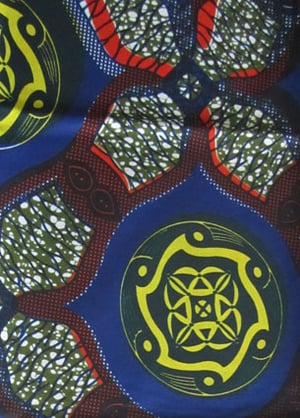 100% Cotton Real Wax Printed Fabric