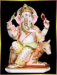 Marble Ganpati With Mouse
