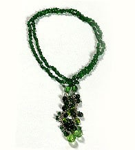 Green Resin Beads Necklace