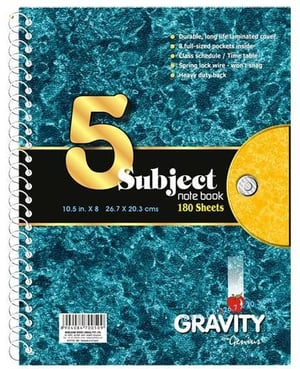 Soft Cover Subject Books With Spiral Binding