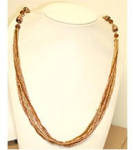 Stranded Seed Beads Necklace
