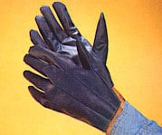 3310 Blue Nitrile Impregnated, Hosiery Fabric Lined Gloves