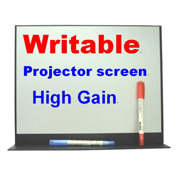 15 Inches High-Gain Writable Projector Screen