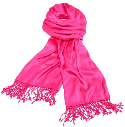 Satin Pink Scarves