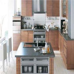 Steel Finish Modular Kitchen