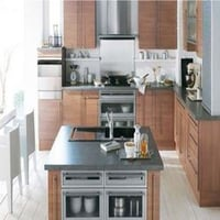 Steel Finish Modular Kitchen