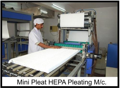 Mini Pleat Hepa Filters Machines