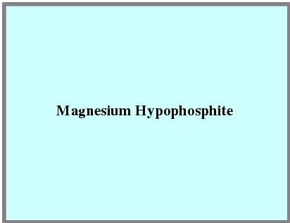 Magnesium Hypophosphite