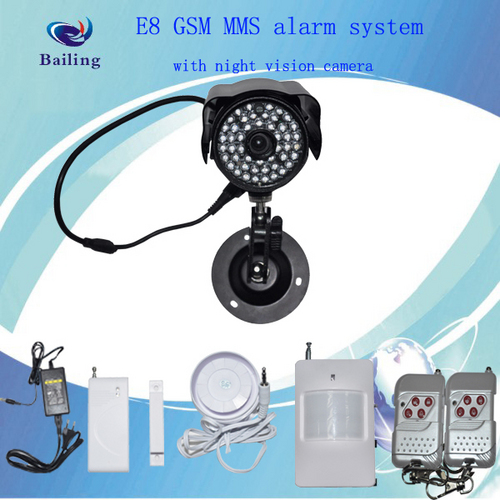 Bl-E9 Gsm Mms Alarm System With Infrared Night Vision Camera