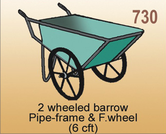 2 Wheeled Pipe Frame Barrow
