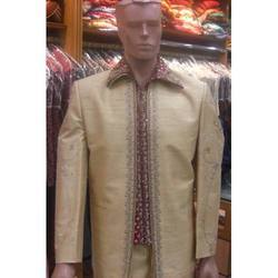 Raw Silk Jodhpuri Suit