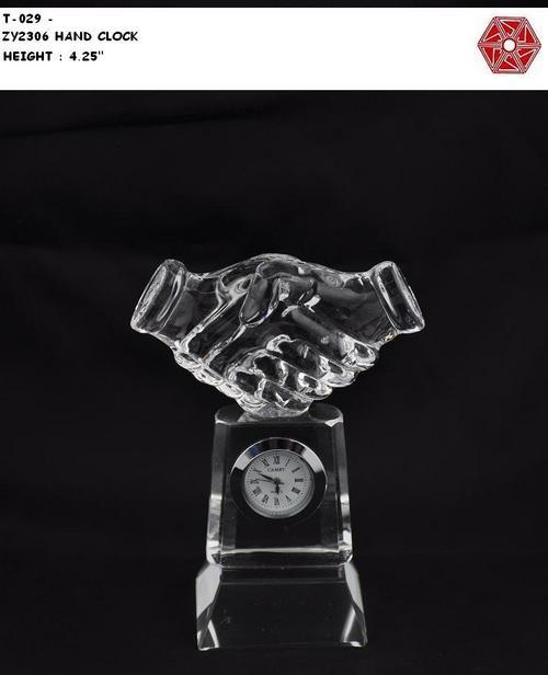 Crystal Hand Clock