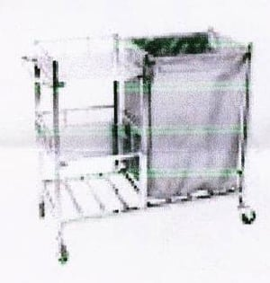 Industrial Linen Trolley With 3 Selves