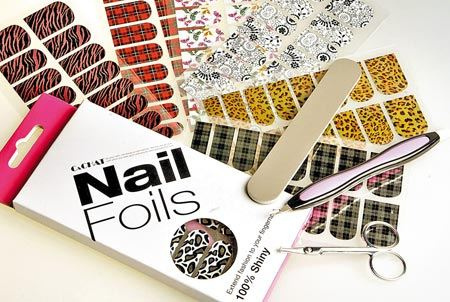 C and CHAT Nail Foils