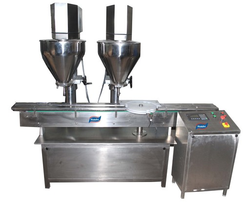 Automatic Double Head Linear Augur Type Dry Syrup Powder Filling Machine