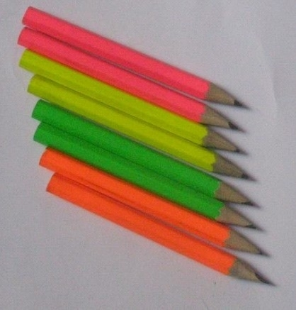 Neon Golf Pencil With Different Color