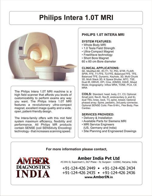 philips intera 1 0t mri in gurgaon haryana amber diagnostics india rh tradeindia com Philips MRI Protocol Worksheets Philips Achieva 1.5T MRI