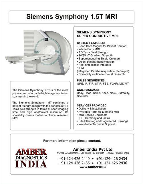 Siemens Symphony 15T MRI in Gurgaon Haryana Amber Diagnostics India – Siemens Site Planning