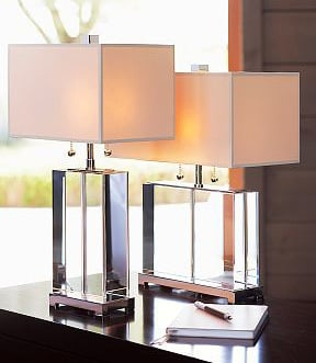 Crystal Table Lamp (TL-1202&11141CG) with Fabric Shade