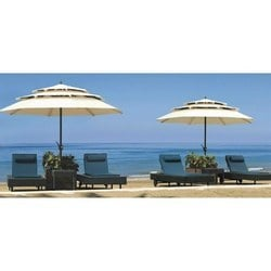 Wooven Outdoor Furniture Poolside Loungers