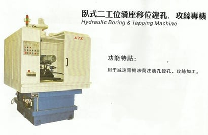 Hydraulic Boring And Tapping Machine With Slide Table
