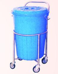 Plastic Bucket Soiled Linen Trolley