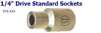 1-4 inch Drive Standard Sockets
