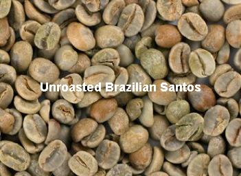 Unroasted Brazilian Santos Coffee Beans
