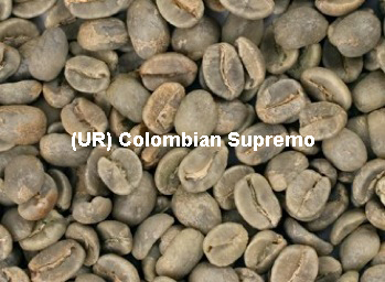 Unroasted Colombian Supremo Coffee Beans
