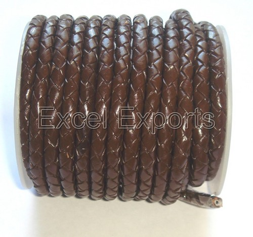 Brown Braided Leather Cords