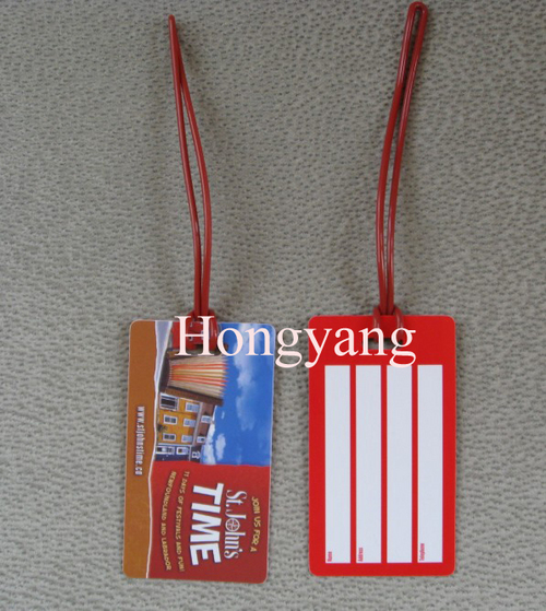 Hard PVC Luggage Tag