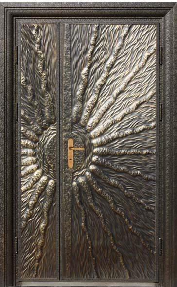 Luxury Copper Carved Security Entry Door