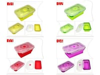 New Silicone Collapsible Folding Lunch Box